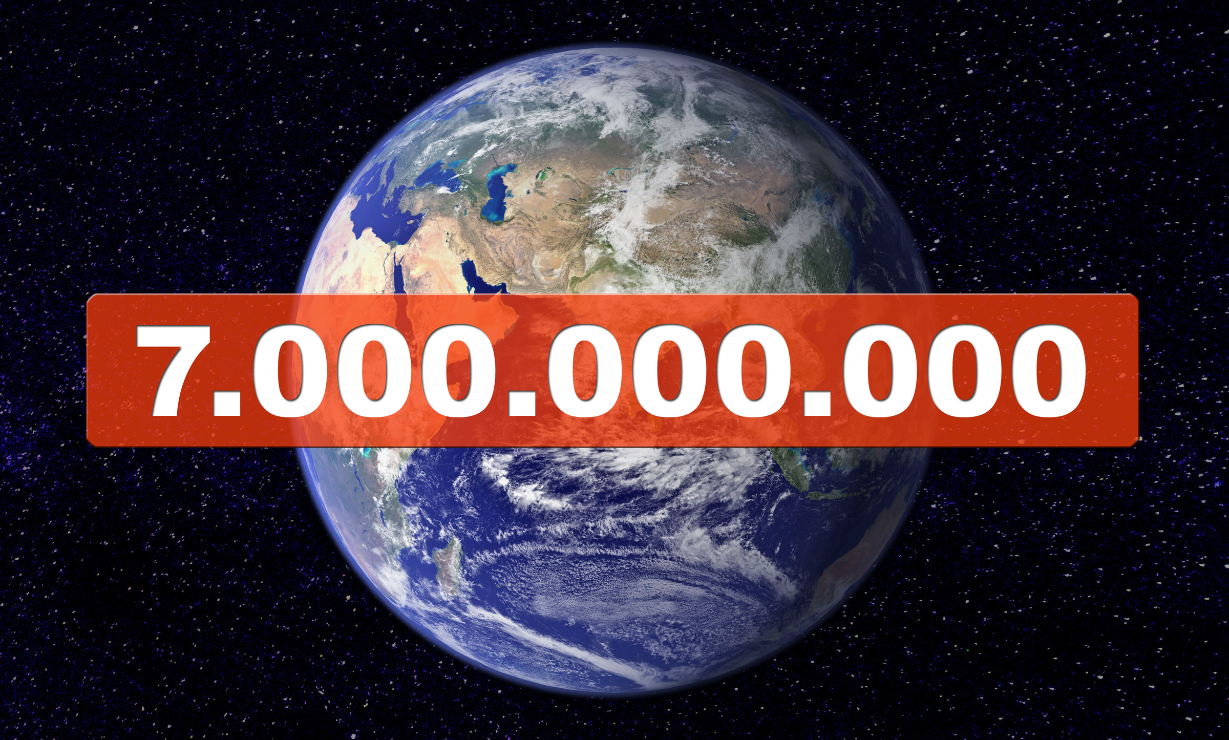 7 million people live on earth in October 2011