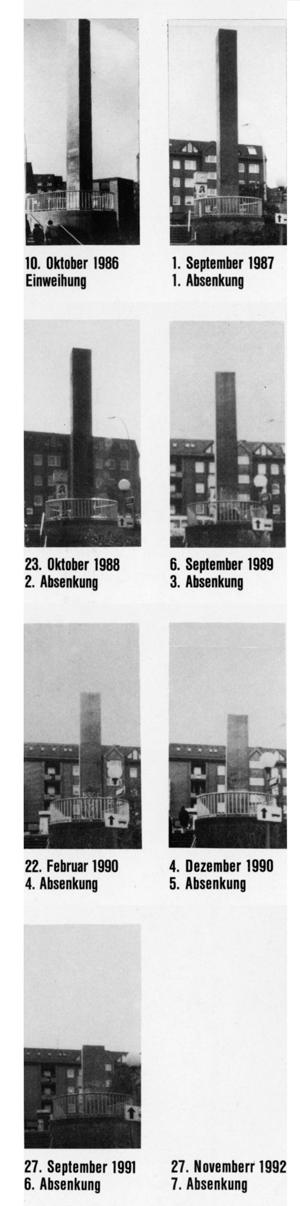 "Jochen Gerz and Esther Shalev-Gerz: ""Mahnmal gegen Faschismus"", (Monument Against Fascism), Hamburg-Harburg 1986–1992"